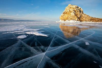 Baikal. Edor Island. Winter Travel on Ice-katvic-Photographic Print