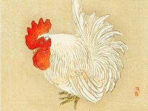 Bairei Gadan - Rooster by Bairei Kono