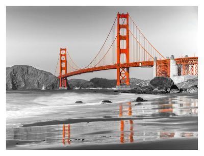 Baker beach and Golden Gate Bridge, San Francisco--Art Print
