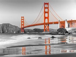 Baker beach and Golden Gate Bridge, San Francisco