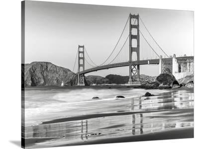 Baker beach and Golden Gate Bridge, San Francisco--Stretched Canvas Print