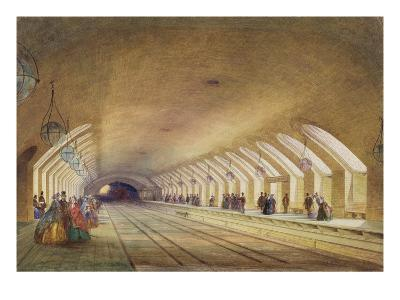 Baker Street Station, 1863 (W/C and Bodycolour with Pen and Ink on Paper)-Samuel John Hodson-Giclee Print