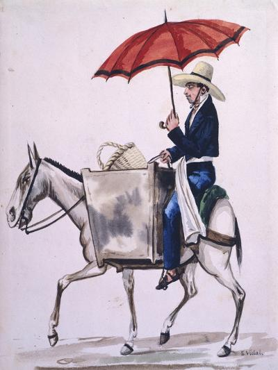 Baker Travelling to the City from Costumes of South America--Giclee Print