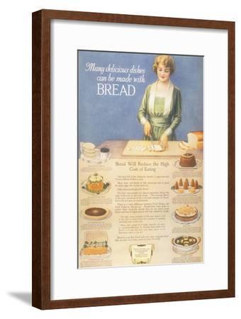 Bakers Bread, USA, 1910--Framed Giclee Print