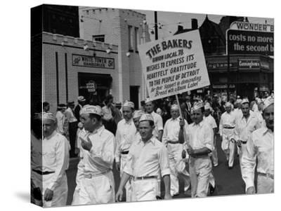 Bakers Union Marching Through the Labor Day Parade