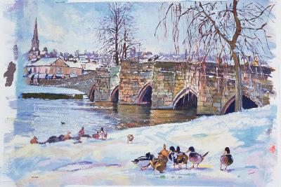 Bakewell Bridge, 1998-Martin Decent-Giclee Print