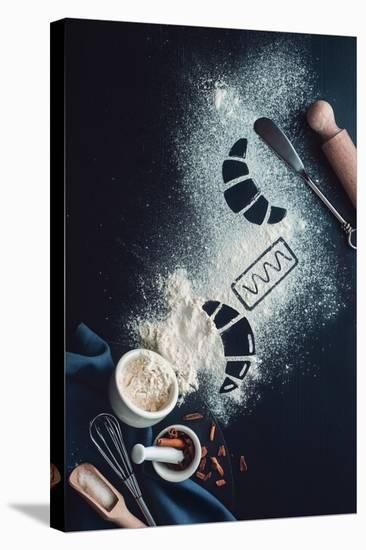 Baking Recipe: Croissant-Dina Belenko-Stretched Canvas Print
