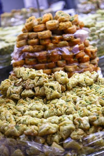 Baklava, an Arab Sweet Pastry at a Shop in the Old City, Jerusalem, Israel, Middle East-Yadid Levy-Photographic Print