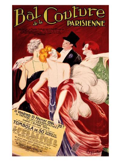 Bal de la Couture Parisienne-Leonetto Cappiello-Giclee Print