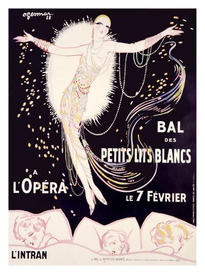 Bal des Petits Lits Blancs-Charles Gesmar-Giclee Print