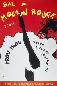 Bal Du Moulin Rouge Paris; Frou Frou - Revue a Grand Spectacle