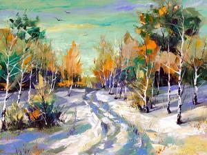 The Winter Landscape Executed By Oil On A Canvas by balaikin2009