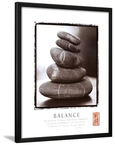 Balance: Rocks--Lamina Framed Art Print
