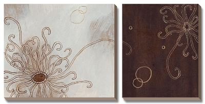 Balancing Blossoms II-Arleigh Wood-Canvas Art Set