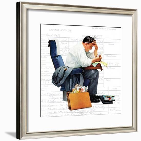 """Balancing the Expense Account"", November 30,1957-Norman Rockwell-Framed Giclee Print"