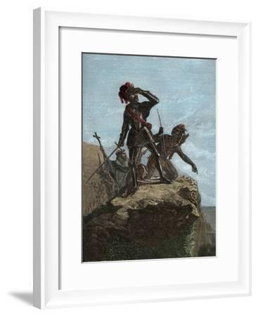 Balboa Discovering the Pacific Ocean in 1513-Stefano Bianchetti-Framed Giclee Print
