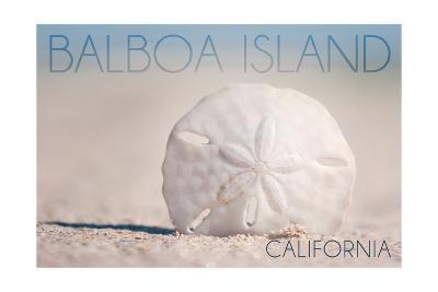 Balboa Island, California - Sand Dollar and Beach-Lantern Press-Art Print