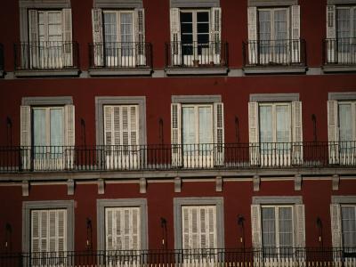 Balconies Overlooking Plaza Mayor, Madrid, Spain-Damien Simonis-Photographic Print