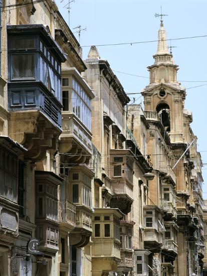 Balconies, St Pauls Street, Valletta, Malta-Peter Thompson-Photographic Print