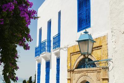 Balcony and Window, Sidi Bou Said, Tunisia, North Africa-Nico Tondini-Photographic Print