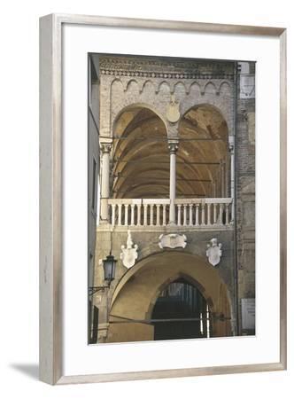 Balcony of a Building, Palace of the Reason, Padua, Veneto, Italy--Framed Giclee Print
