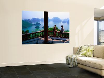 Balcony on Summit of Titop Island, Overlooking Limestone Islands-Mark Daffey-Wall Mural