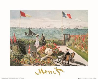 Balcony on the Sea at Saint Adresse-Claude Monet-Art Print