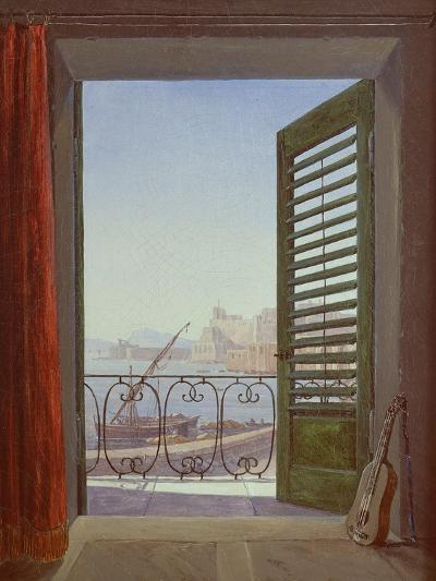 Balcony Room with a View of the Bay of Naples, C. 1829-Carl Gustav Carus-Giclee Print