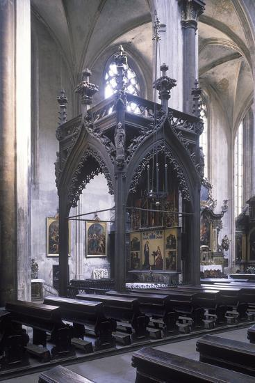 Baldachin by Mat?j Rejsek (1493), Church of Our Lady before T?n, Prague, Czech Republic--Photographic Print