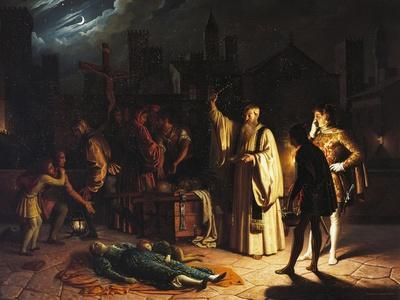 Scene of the Plague in Florence in 1348 Described by Boccaccio