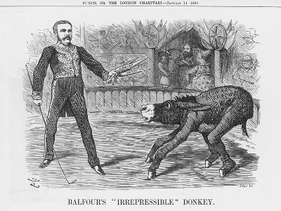 Balfour's Irrepressible Donkey, 1888-Joseph Swain-Giclee Print