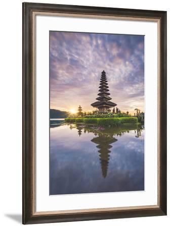 Bali, Indonesia, South East Asia. Pura Ulun Danu Bratan water temple at the edge of Lake Bratan.-Marco Bottigelli-Framed Photographic Print
