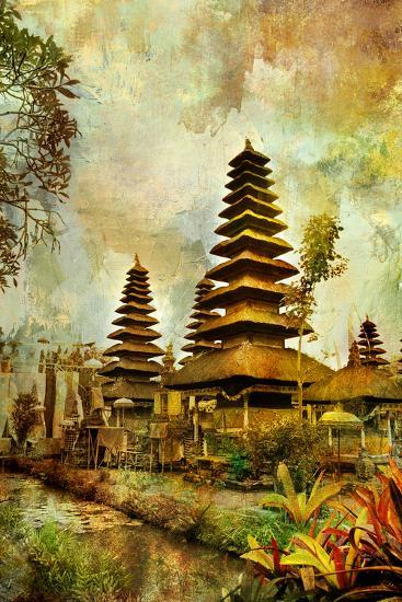 Balinese Temple - Artwork In Painting Style-Maugli-l-Art Print