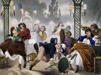 Ball at Casino D'Asnieres, Caricature, France--Giclee Print