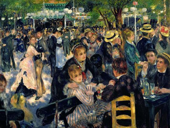 Ball at the Moulin De La Galette, 1876-Pierre-Auguste Renoir-Premium Giclee Print
