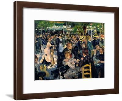 Ball at the Moulin De La Galette, 1876-Pierre-Auguste Renoir-Framed Giclee Print