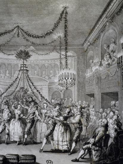 Ball at Versailles for Carnival of 1763, France--Giclee Print