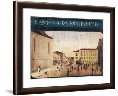 Ball Game, Italy, 19th Century--Framed Giclee Print