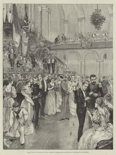 Ball Given in Honour of the French Admiral and Officers at Portsmouth Townhall--Giclee Print