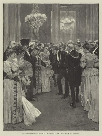 Ball Given to Provincial Mayors and Mayoresses at the Mansion House, the Reception-Amedee Forestier-Giclee Print