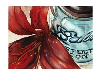 Ball Jar Flower II-Redstreake-Art Print