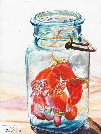 Ball Jar Ideal Peppers-Jennifer Redstreake Geary-Art Print