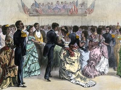 Ball of the Skidmore Guard, a Black Military Organization, NYC, 1870s