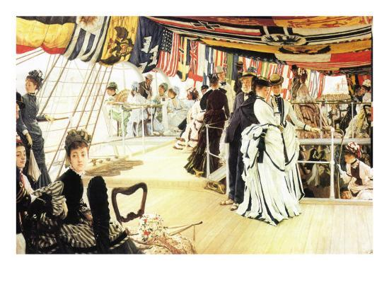 Ball On Board-James Tissot-Art Print