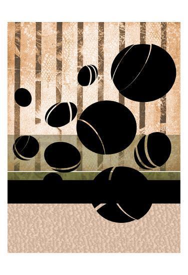 Ball On The Loose-Tony Pazan-Art Print