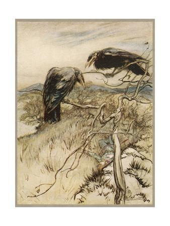 Ballad, Twa Corbies-Arthur Rackham-Premium Giclee Print
