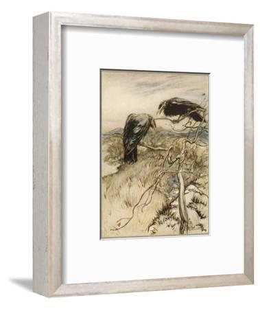 Ballad, Twa Corbies-Arthur Rackham-Framed Premium Giclee Print