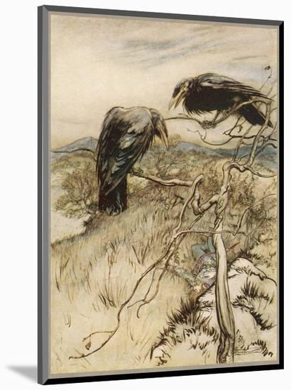 Ballad, Twa Corbies-Arthur Rackham-Mounted Premium Giclee Print