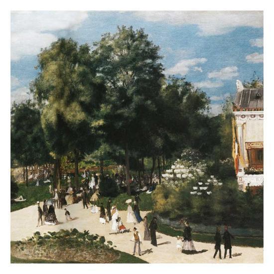 Ballade au parc-Pierre-Auguste Renoir-Art Print