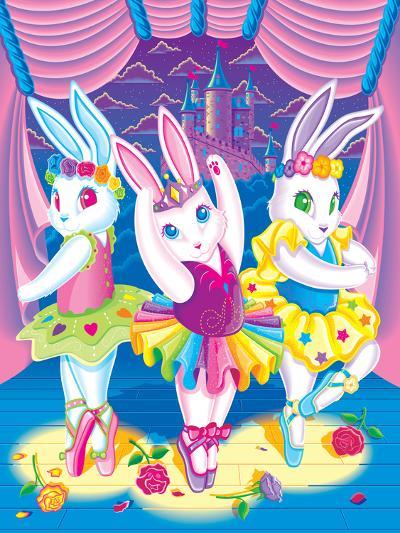 Ballerina Bunnies '98-Lisa Frank-Art Print